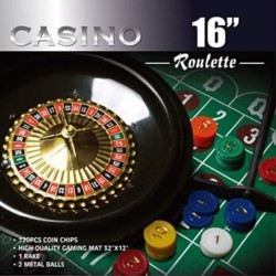 CASINO 16-Inch Roulette Wheel Game Set with 120 chips