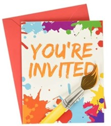 Creative Converting 317724 Art Party Invitations (8 Count), One Size, Multicolor