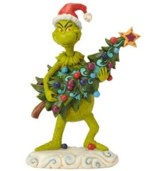 Enesco Dr. Seuss The Grinch by Jim Shore Stealing Tree Figurine, 8.66 , Multicolor
