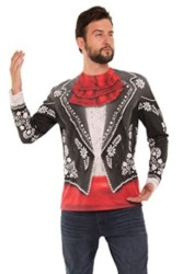 Faux Real Men s Halloween 3D Photo-Realistic Long Sleeve T-Shirt