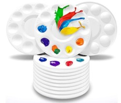 Hulameda Paint Tray Palettes, Plastic Paint Pallets for Kids