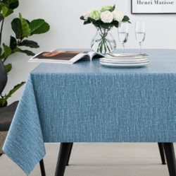 JADD Square Vinyl Tablecloth Vintage and Casual Style -100% Waterproof Oil Proof Stain Proof Wipeable PVC Table Cloth -Decoration Vinyl Tablecloths