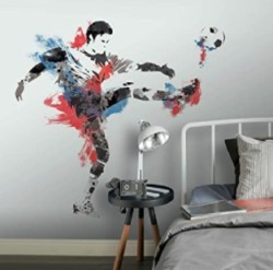 RoomMates Men S Soccer Champion Peel And Stick Giant Wall Decals