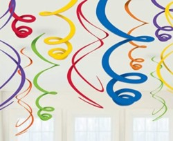 amscan Swirl (12ct) Party Decorations, 22 , Multicolor