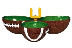 Amscan 434393 Football Condiment Party Dish | 1 piece,Green/Brown