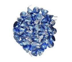 Hershey s Kisses 2 pounds Bulk Bag Cookies N  Creme Blue Foiled Wrapping Approx. 200 Kisses