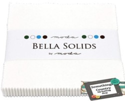 Moda Bella Solids White Bleached 9900PP-98 Charm Pack, 42 5-inch Cotton Fabric Squares