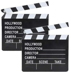 Movie Clapboard Hollywood Movie Film Theme Party Decorations, Academy Awards 7 x 8  (2-Pack)