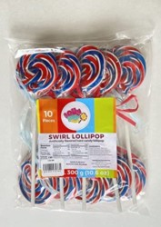 Red White and Blue Swirl Lollipop – Birthday Party, Favors, Decorations, Supplies