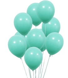 UTOPP 12 in Aqua Blue Balloons Turquoise Thick Latex Balloons