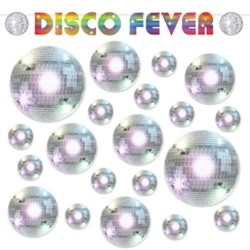 70 s Party Disco Fever Hanging Banner Garland and Disco Ball 2-Sided Cutouts Set