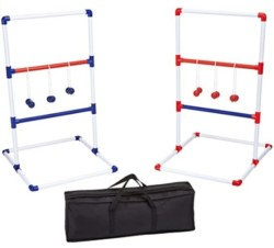 Amazon Basics Ladder Toss Outdoor Lawn Game Set with Soft Carrying Case - 40 x 24 Inches