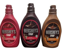 Hersheys Syrup Variety Pack Bundle of 3 Flavors- Chocolate, Caramel and Strawberry