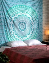Large King Size Tapestry Wall Hanging - Pure Cotton Mandala Wall Tapestries Decorative Bedding Boho Living Room Decoration