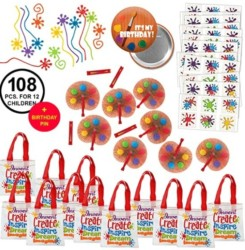 Little Artist Painter Paint Art Party Favors Pack for 12 includes 1 Special Birthday Pin