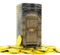 Milk Chocolate Coins - Chocolate Coins Wrapped in Gold, Chocolate Coins
