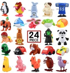 Wind-Up Toys, 24 Pack Assorted Mini Toy for Kids Party Favors, Birthday Goody Bag Filler Preschool Toy